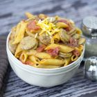 One Pan Cheesy Smoked Sausage and Pasta