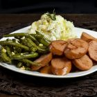 Ring Bologna, Mashed Potatoes & Green Beans